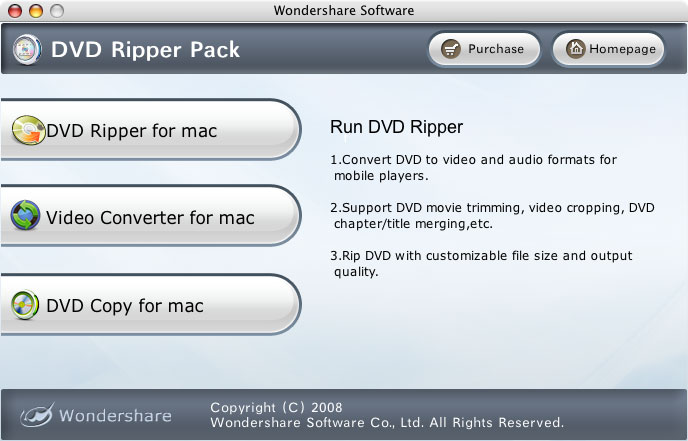 dvd ripper pack for mac, dvd ripper, video converter, dvd copy